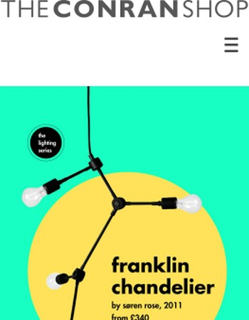The Conran Shop Lighting Series   Franklin Chandelier