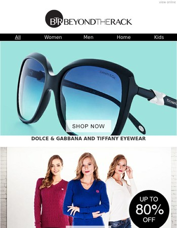Enjoy The Sun With Dolce Gabanna & Tiffany Eyewear, Fashion Swimwear, Giorgio Di Mare Apparel, Colorful Footwear & More!