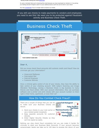 5Forms - Avoid Business Check Fraud
