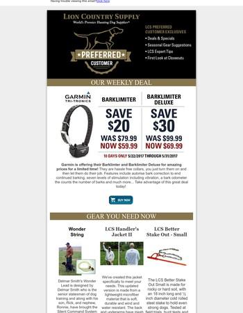 Garmin Bark Limiter Savings - Is Back Again!