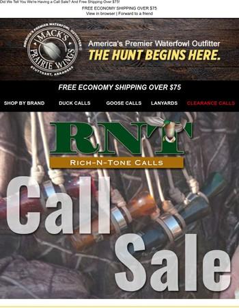 Call Sale! Call Sale! Call Sale!