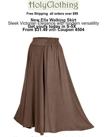 New Ella Victorian Walking Skirt has stocked