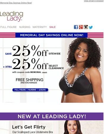 Memorial Day Savings Online Now!