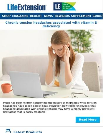 Tension headache associated with vitamin D deficiency