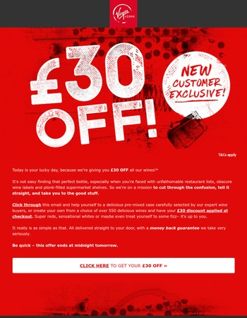 £30 OFF anything on site – 48 HOURS ONLY