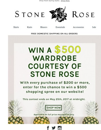 stonerose.com Newsletter