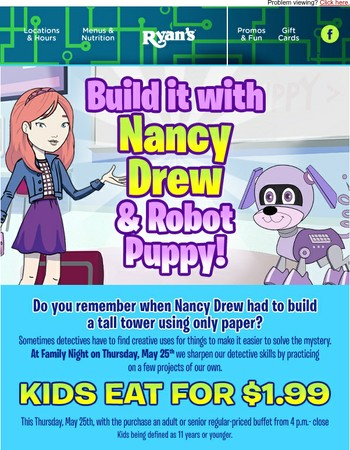 The last Nancy Drew Family Night