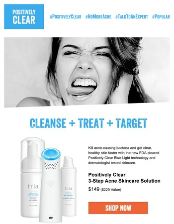Ditch your acne by SUMMER! #bluelightit
