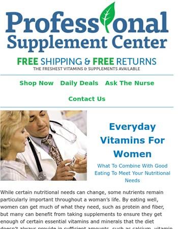 ❤ Everyday Vitamins for Women