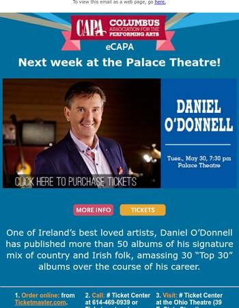 Irish Singer & Performer Daniel O'Donnell in concert