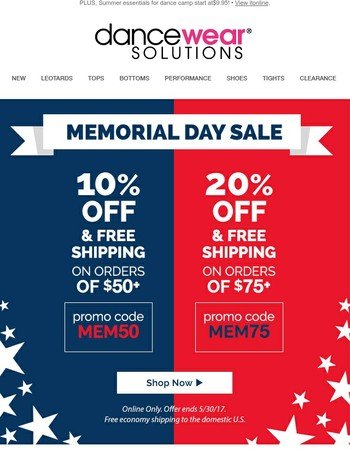 ★☆Memorial Day Sale!☆★ Save up to 20% on your entire order!