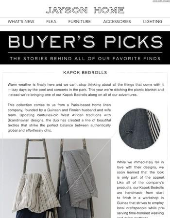 buyer's pick: kapok bedrolls