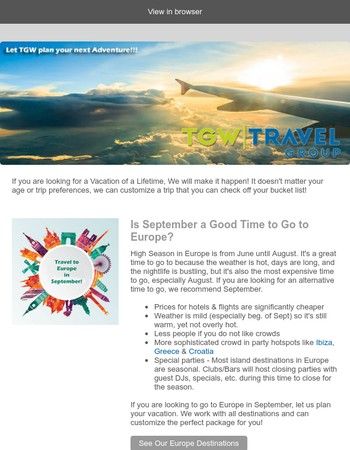 May 2017 TGW Travel Newsletter