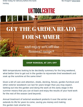Stock up on woodcare products to get the garden summer ready