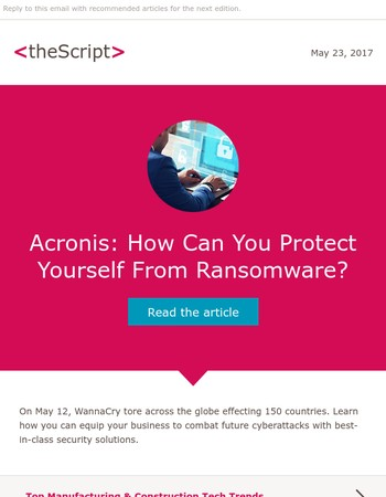 <theScript>: How to defend against ransomware
