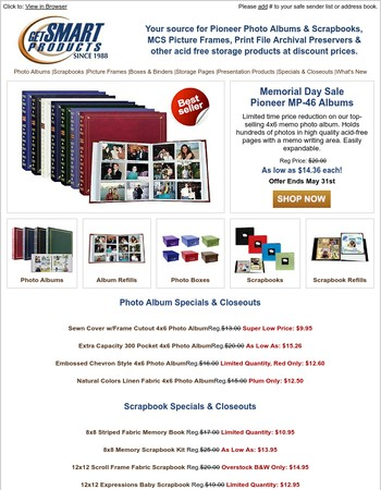 Memorial Day Sale On Pioneer MP-46 Photo Albums - Ends May 31st