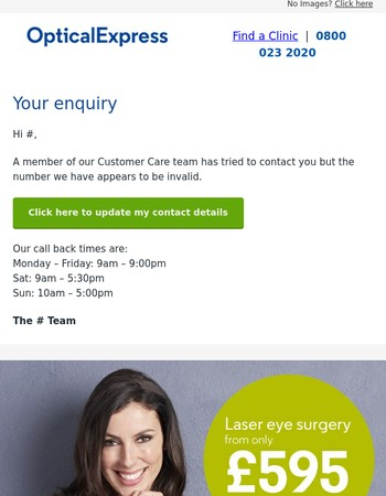 About your enquiry Mary