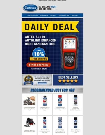 DailyDeal: Autel AL519  Autolink OBD II Can Scan Tool