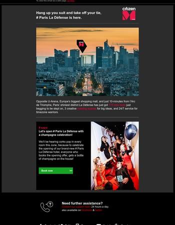 Paris La Defense is open for celebration, join us!
