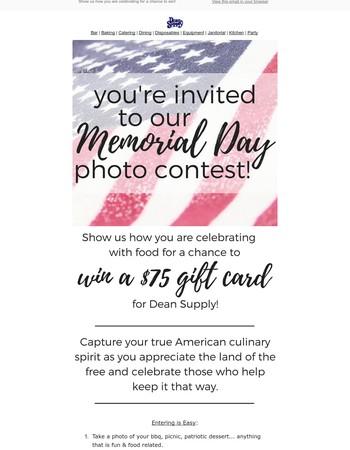 Enter our Memorial Day Photo Contest | Win $75