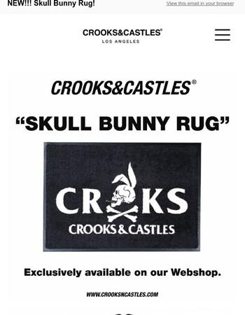 NEW!!! Skull Bunny Rug