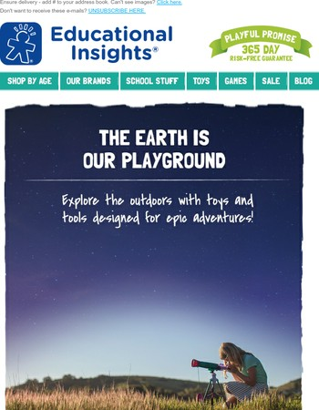 The Earth is our Playground!