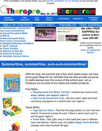 Theragram - Summertime, summertime, sum-sum-summertime!