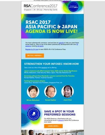 RSAC 2017 APJ agenda is live!