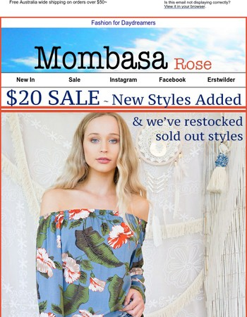 $20 SALE // New styles added⭐