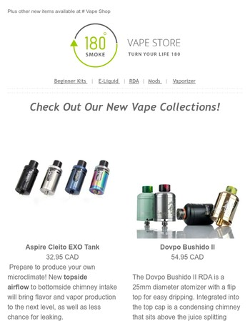 180smoke com - Get Your Vape Holiday Bundles While It Last