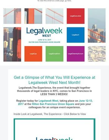 Your Sneak Peek into Legalweek West