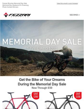 Memorial Day Sale! Photo Winners