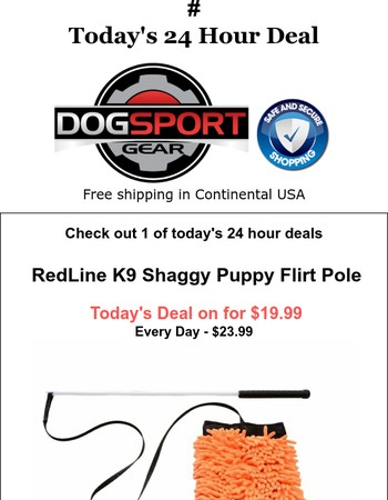 Today's Deal - RedLine K9 Shaggy Puppy Flirt Pole