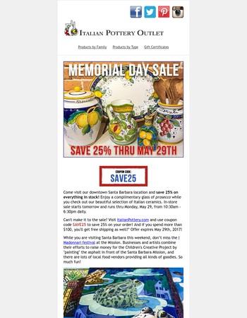 25% Off Sale Starts Tomorrow!