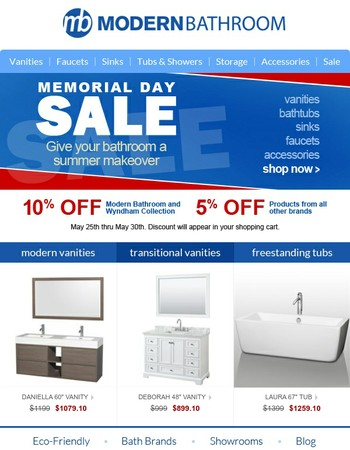 6 Days of Memorial Day Savings start now!