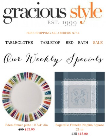 Gracious Style Offers From Newsletters