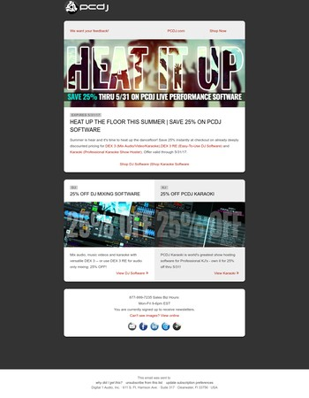 Heat Up the Dance Floor | Save 25% on PCDJ Software thru 5/31