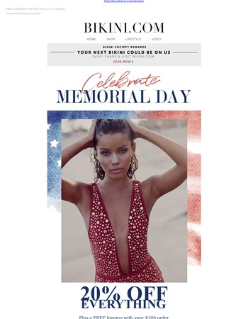 Free kimonos for Memorial Day Weekend!