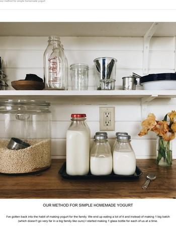our method for simple homemade yogurt