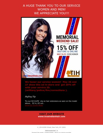 MEMORIAL WEEKEND SALE!