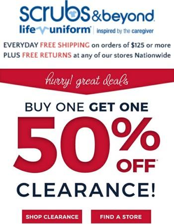 BOGO 50% Clearance!