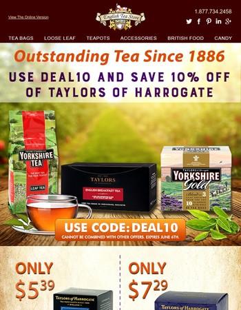 10% Off Taylors of Harrogate Teas!