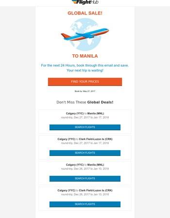 GLOBAL SALE - Get Jet Set to Manila! ✈️
