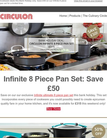 Bank Holiday Deals: Infinite 8 Piece, Save £50!