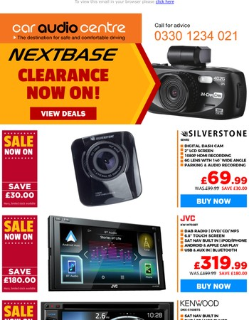NextBase Clearance Now On