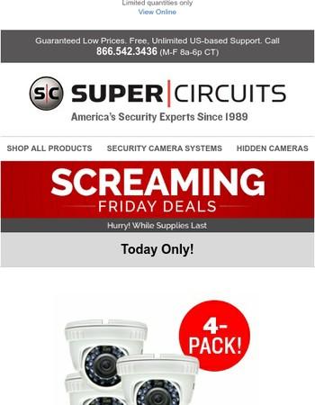 Screaming Friday: Save on Camera 4-Packs!