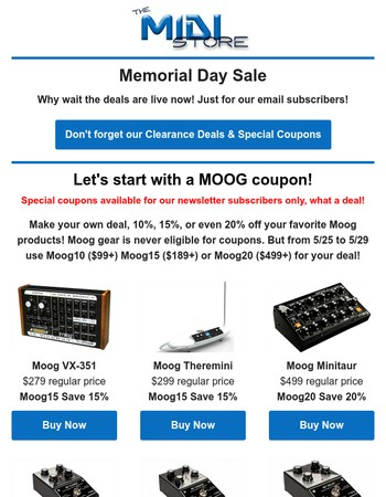 Our Best Deals of the Year!