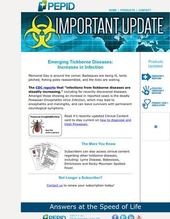 UPDATE: Powassan Encephalitis Virus Infections on the Rise