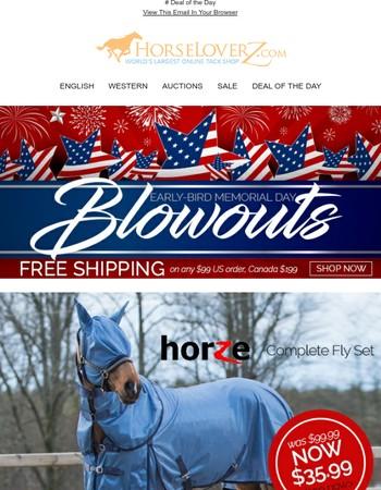 Early-Bird Memorial Day Blowouts + Free Shipping