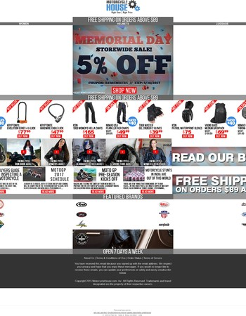 Super Sale On Memorial Day! Enjoy Amazing Discounts